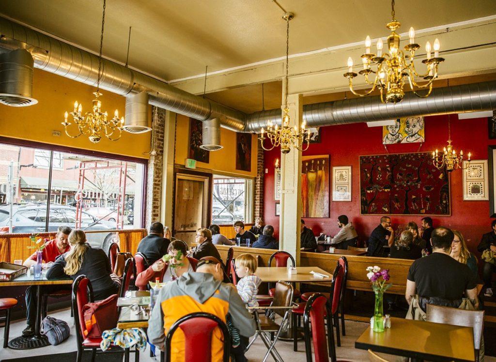 Customers dine at Po'Shines Café de la Soul.
