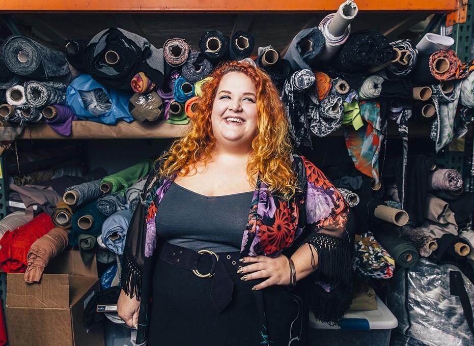 Plus-sized Designer Claire Doody.