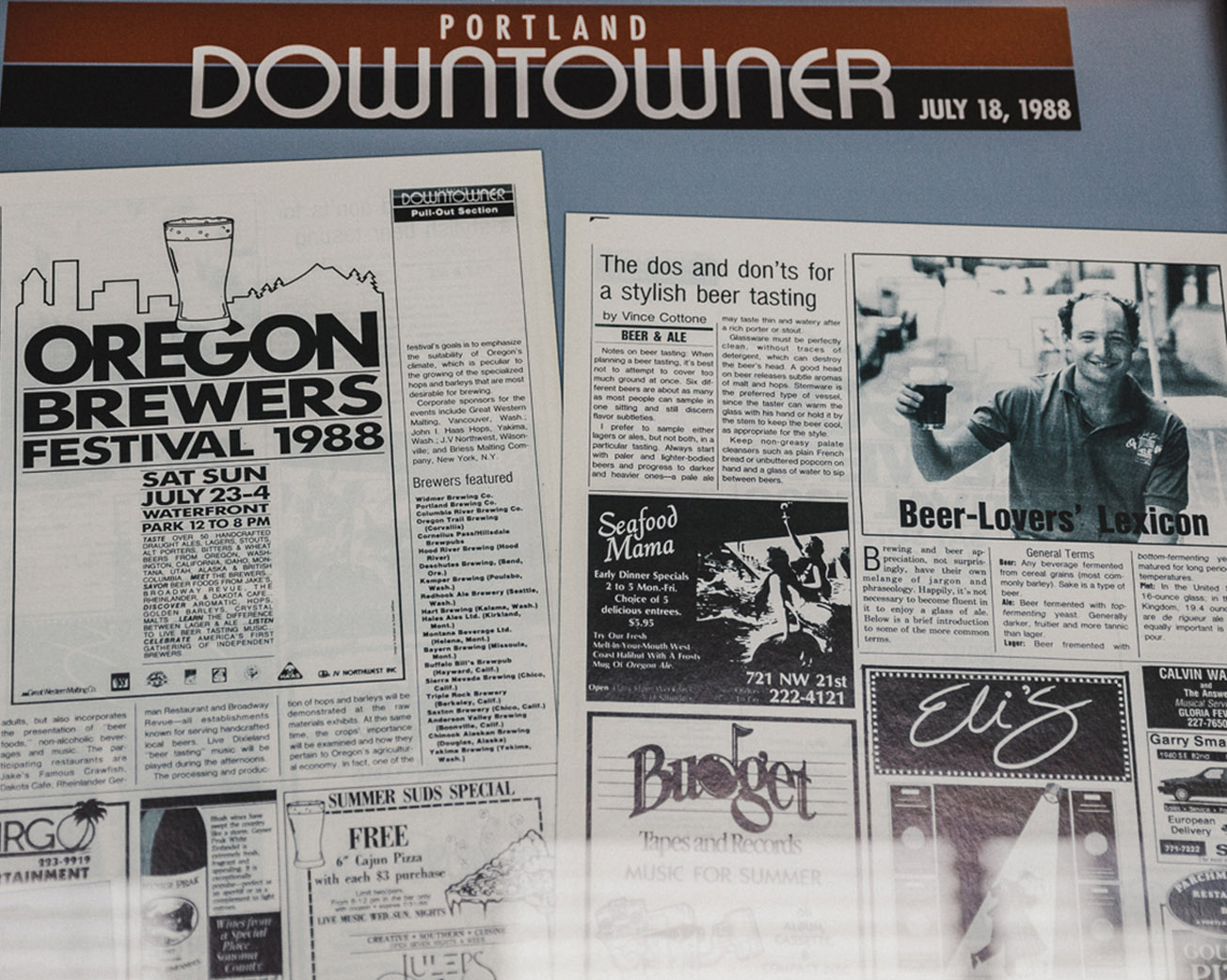 Press coverage of the first Oregon Brewers Festival in 1988