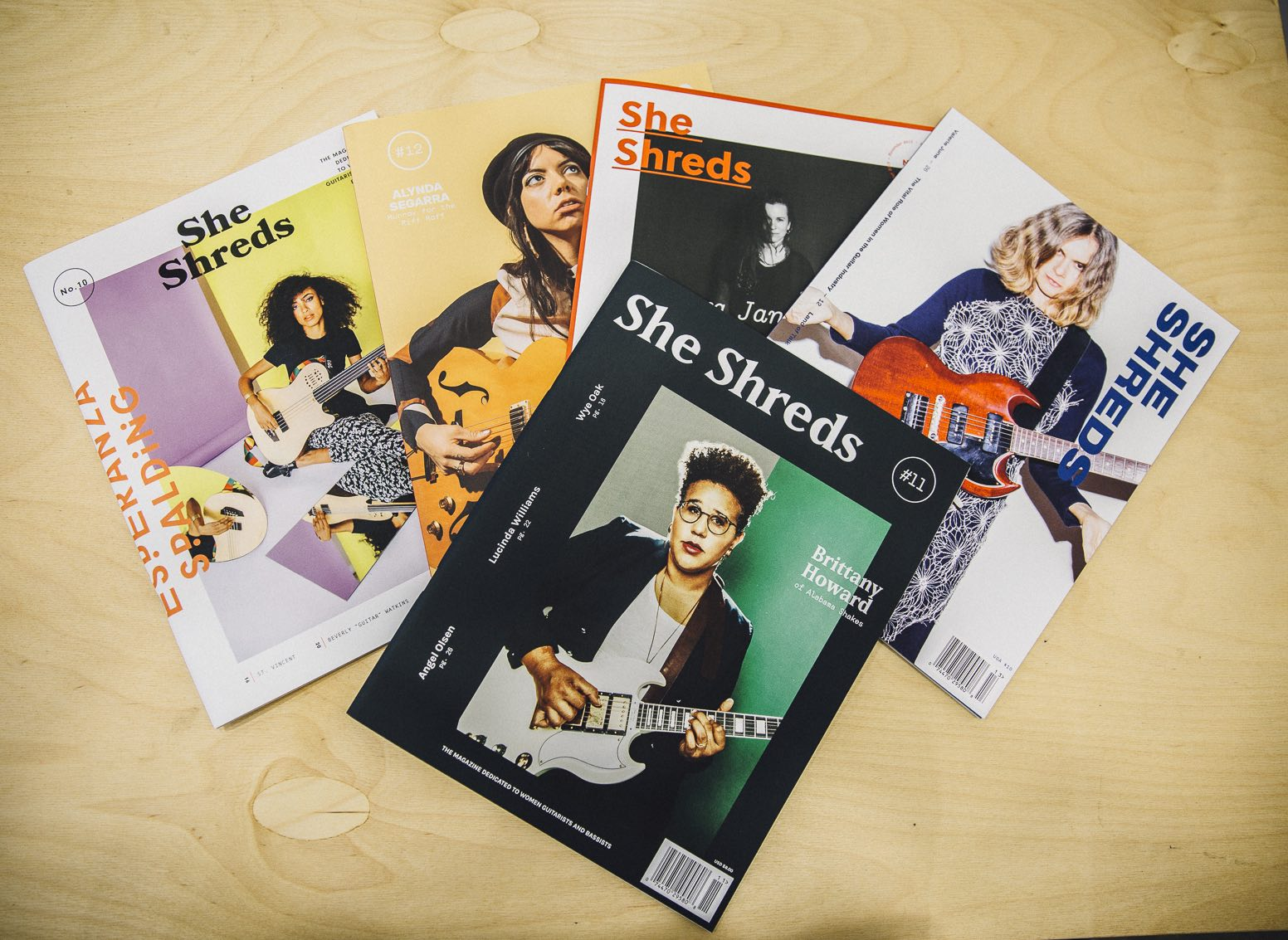 Past issues of She Shreds