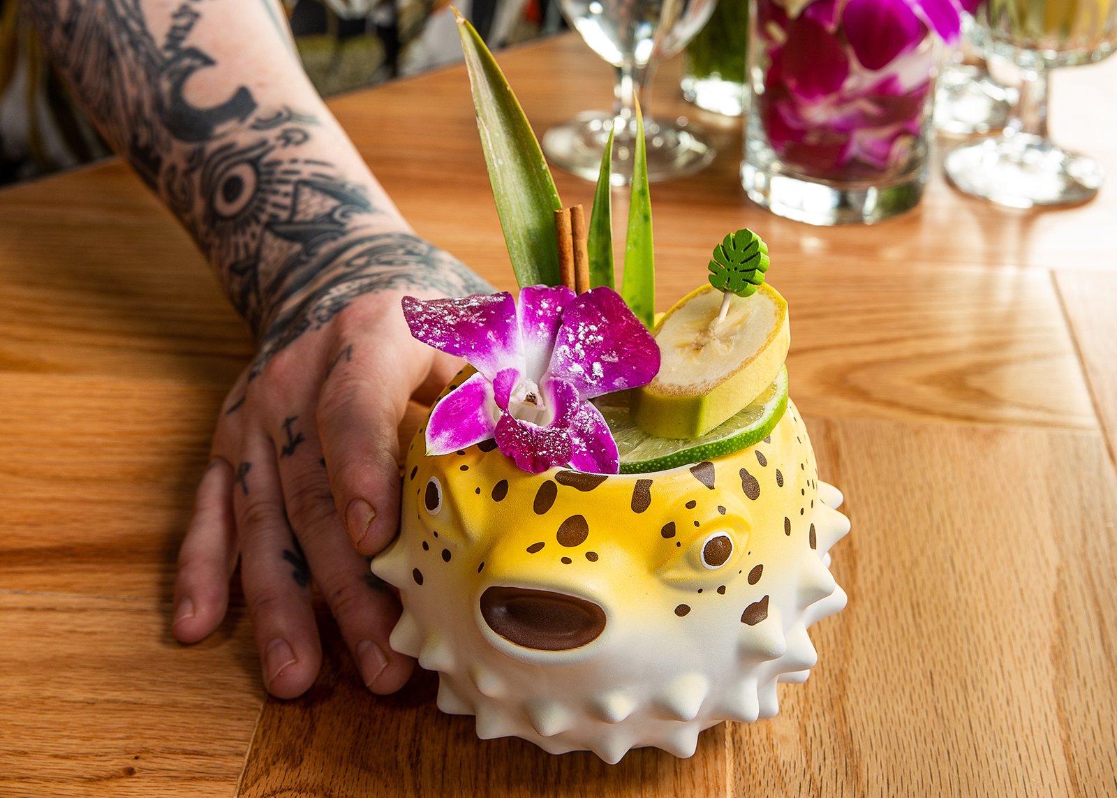 A colorful Tiki cocktail at Eem on North Williams Avenue.